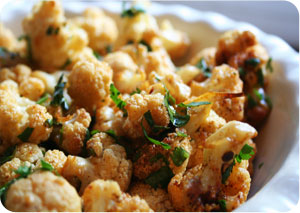 healthy balsamic parmesan roasted cauliflower recipe