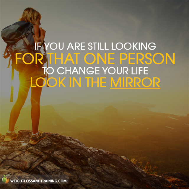 Motivational Quote – Look in the mirror
