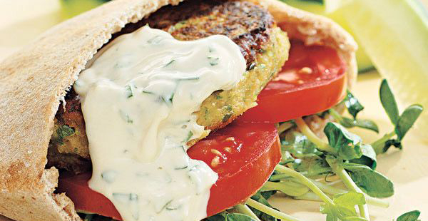 Chickpea Burgers and Tahini Sauce at Everyday Health