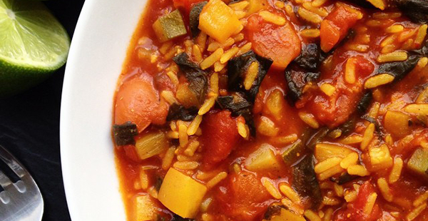 Moroccan Spicy Rice at Jennifer Makes
