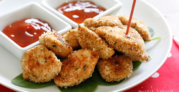 Healthy Baked Chicken Nuggets at Skinny Taste